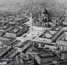 1943 - Plan for Liverpool around Lutyen's Cathedral