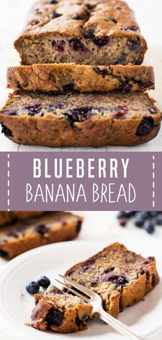You Only Need 10 Minutes To Prepare Blueberry Banana Bread This Easy Spring Recipe Creates A Moist And Flavorful Sweet Treat Bursting With Blueberries. Sprinkle A Few Berries On Top For A Nice Finish. Offer This Spring Season Food With Family And Friends Blueberry Recipes Easy, Blueberry Bread Recipe, Blueberry Banana Bread, Best Bread Recipe, Make Banana Bread, Easy Bread Recipes, Banana Bread Recipes, Vegan Recipes Easy, Sweet Recipes