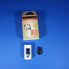 cool Oxímetro simples do pulso do dedo do CE de FDA com exposição de diodo emissor de luz da caixa de cor
