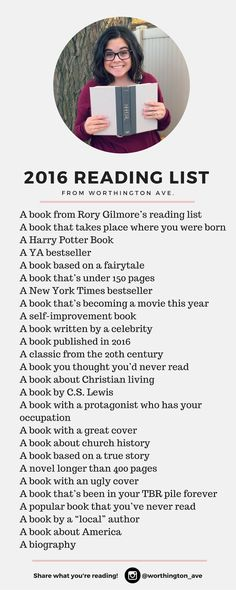 2016 Reading List -- Follow me here…