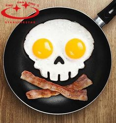 Halloween Skull Egg Mold - Kitchen Gadgets Type: Egg Tools Brand Name: starlinkstar Material: Silicone Egg Tools Type: Egg & Pancake Rings Feature: Eco-Friendly,Stocked Certification: CE / EU,EEC,FDA