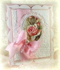 Pink Rose made with Spellbinders