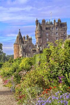 Galmis Castle, Angus, Scotland, the childhood home of Queen Elizabeth, the Queen…
