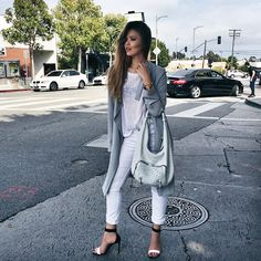 Today's look while kind of hanging out in the middle of traffic (and @jameschardon getting an uber by the same occasion!). Wearing my new @sheandlo bag and getting excited for tomorrow's Meet & Greet at @Nordstrom in Topanga from 1-4pm to celebrate their new summer collection! #kaytour #meetandgreet #sheandlo #nordstrom