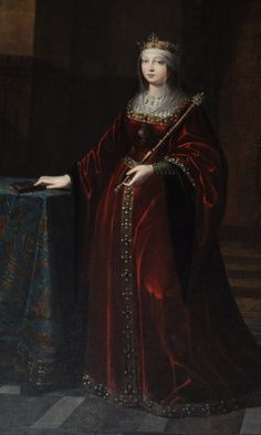 A pregnant Queen Isabella I of Castile mother of Henry VIII's first wife, Katherine of Aragon.