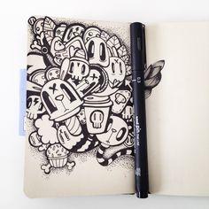 Moleskine Doodle Artwork by Miss Wah