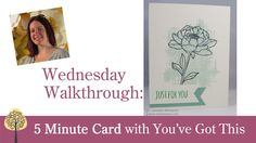 5 Minute Card using You've Got This (Walkthrough Wednesday)