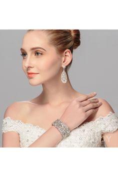 Latest Silver Cloud Alloy Wedding Bracelets with Crystal BS-J529