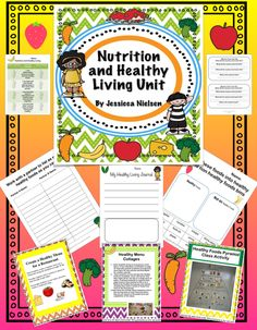 $ This Nutrition and Healthy Living Unit contains a variety of 18 hands on and interactive activities to teach and get students excited about the importance of healthy eating and healthy living.