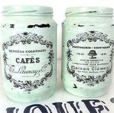 Diy Bottle, Bottle Art, Bottle Crafts, Bottles And Jars, Glass Jars, Mason Jar Crafts, Mason Jars, Fun Crafts, Diy And Crafts