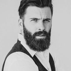 Levi Stocke - full beard and mustache beards bearded man men mens' style portrait bearding handsome #beardsforever by fanny