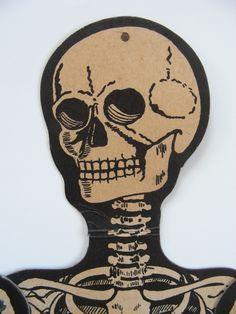 9fa7390d90c Old Vtg Halloween Cardboard Skeleton H. E. Luhrs USA Die Cut. Amanda Leslie  Phillips · Pumpkin Paper Mache