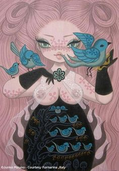 junko mizuno - ECTOPLASM_BIRD by MondoPOP International Gallery, via Flickr