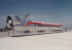 """""""Bangin' train of the day: The French Aérotrain project saw several prototype jet-powered 'hovertrains' developed. They glide over a cushion of air on a concrete rail. One hit miles per hour. They look like how the future should look. Rail Car, Old Trains, Train Engines, Bahn, Steam Locomotive, Train Tracks, Retro Futurism, Train Station, Model Trains"""