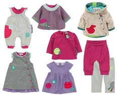 Moulin Roty - Girl 3 months - 2 years. Les filles. Circles, squares, stripes and polka dots: Moulin Roty's baby clothes are cute and educational.
