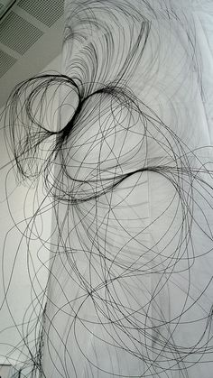 Wire And Ink Drawing, Katie Lion.