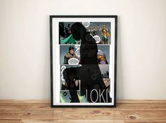 Loki Comic Strip Print by GreyFoxDesign on Etsy