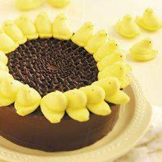 Peeps Marshmallow Sunflower Cake for Easter
