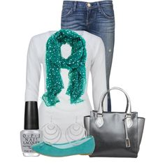 A fashion look from February 2013 featuring Full Tilt tops, Current/Elliott jeans and even&odd flats. Browse and shop related looks.