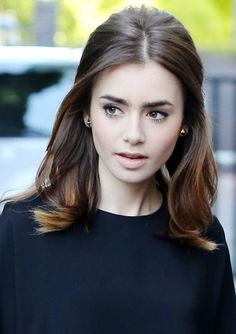 Lily's half-up half-down subtle bouffant hairstyle for medium length hair