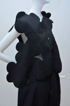 Blossom Top with large overlapping shapes; sewing & construction; fashion design detail // Comme Des Garcons