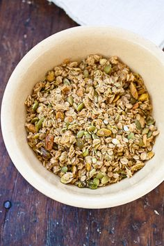 Olive Oil Granola with Pistachios & Pumpkin Seeds