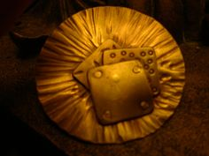 Bronze textured / layered button