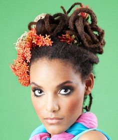 Dreadlock Updos  Dreadlocks are not just a Rastafarian look anymore; this dreadlocks gallery highlights a variety of fashionable, attractive hairstyles you can create with dreadlocks, from beautiful formal updos to punk hair styles to casual everyday hairdos.