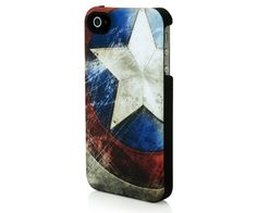 Captain America Battered Shield iPhone case