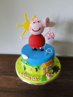 Bolo Peppa Pig - Aniversario Joana 2 anos!