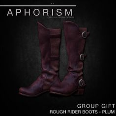 APHORISM RR BOOTS PLUM GROUP GIFT by Rucy Byron (!APHORISM!), via Flickr