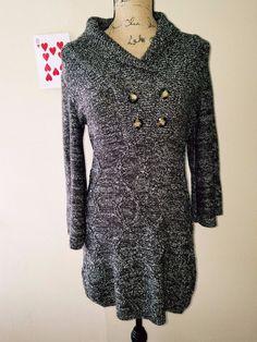 Style & Co Women's Wrap Sweater Cardigan High Neck S 100% Acrylic Brown EUC #Styleco #Cardigan #Career