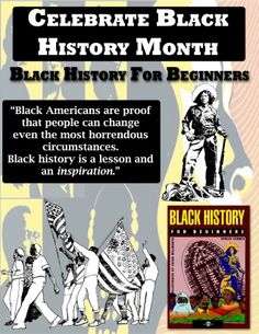 """BLACK HISTORY MONTH: Black History For Beginners! Also, be sure to check out our """"Gift of Black History"""" book set - books are offered at a discounted price! http://www.forbeginnersbooks.com/giftofblackhistory.html"""