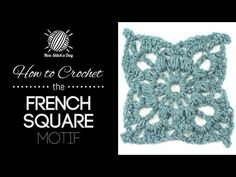 For written instructions and photos please visit: http://newstitchaday.com/how-to-crochet-the-french-square-motif/ This video crochet tutorial will help you ...