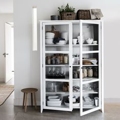 Glass Display Cabinet   Stocked Made To Order Furniture   Furniture   Home   The White Company UK