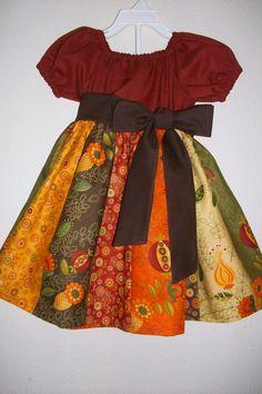 Thanksgiving Dress   Girl Fall Dress   Thanksgiving Dress For Girl   Peasant Dress   Harvest Dress  