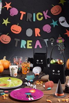 SHOP NOW at Cost Plus World Market: Halloween Entertaining. Whether you're throwing a party or just trick-or-treating, entertain your guests with our affordable selection of ghoulish entertaining essentials. Halloween Banner, Halloween Night, Halloween 2020, Halloween Candy, Halloween Gifts, Halloween Decorations, Halloween Stuff, Halloween Ideas, Halloween Entertaining
