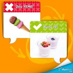 Canın tatlı mı çekti? Külahta dondurma yerine ev yapımı ve meyveli dondurulmuş yoğurt ye :)