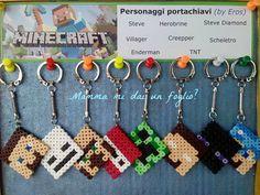 Mamma mi dai un foglio ?: Minecraft...con le perline da stirare