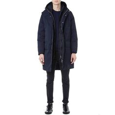 Acne Montreal Double Layer Military Parka (Navy)