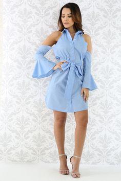 Cold Shoulder Flary Dress