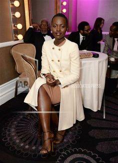 Lupita Nyong'o at the 25th annual Producers Guild of America (PGA) Awards at the Beverly Hilton Hote