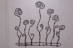 Barbed Wire Art Wild Flowers Wall Hanging by SouthwestCrafts, $64.00