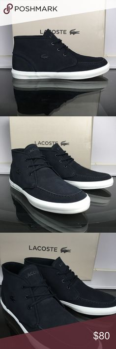 Lacoste Black Sevrin Mid Brand new and with the original box Lacoste Shoes Sneakers