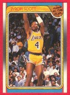 1988 - 1989 Byron Scott Fleer All Star Team Basketball Card  122 Lakers  Byron Scott ba59041dd