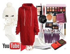 """""""Lazy Day on YouTube"""" by xoangel33 ❤ liked on Polyvore featuring Too Faced Cosmetics, beautyblender, Converse, Kate Spade, Hue, Hoola, NYC New York Color, Milani, NARS Cosmetics and Maybelline"""