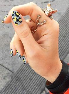 Gel Nail Art Designs, Cute Nail Designs, Hot Nails, Pink Nails, Image Nails, Leopard Print Nails, Modern Nails, Minimalist Nails, Stylish Nails