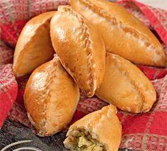 Cabbage pies/Пирожки с молодой капустой и луком-пореем