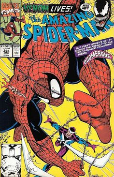 """Gun from the Heart!"" _ Script by David Michelinie , Art Mark Bagley , And Cover Erik Larsen , Second appearance of.Cletus Kasady (Carnage) ,Spidey fights Boomerang; Venom cameo"