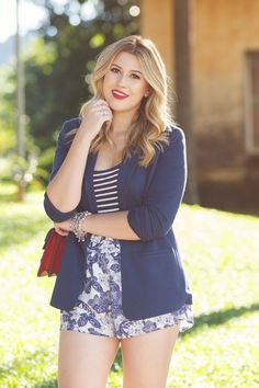 Look do dia: Navy estampado